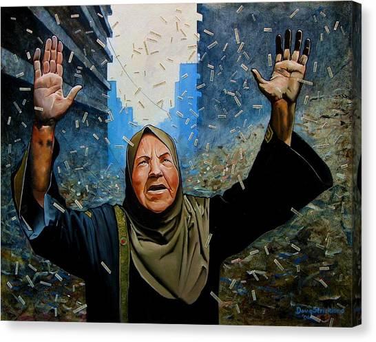 Rain Of Terror Canvas Print by Doug Strickland