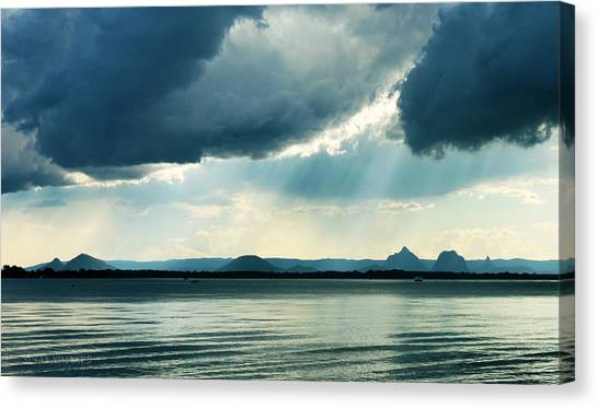 Rain On The Glass Mountains Canvas Print