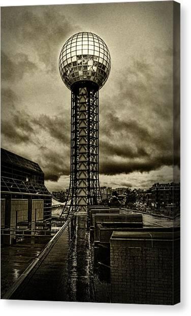 Rain On The Sunsphere Canvas Print by Sharon Popek