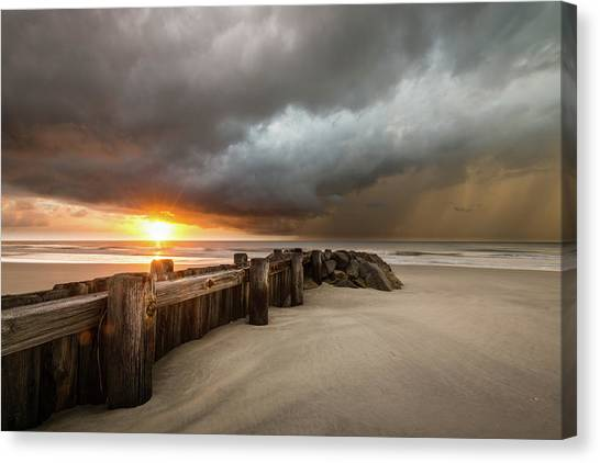 Groin Canvas Print - New Beginnings, Pawleys Island Sunrise by Ivo Kerssemakers