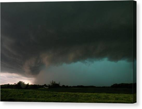 Rain-wrapped Tornado Canvas Print
