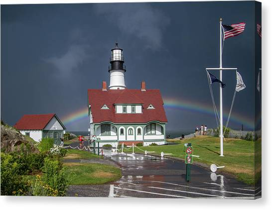 Rainbow After The Storm Canvas Print