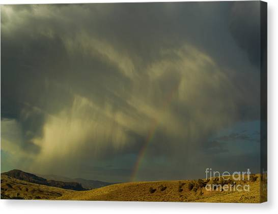 Rainbow And White Light-signed-#9456 Canvas Print