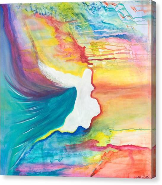 Rainbow Angel Canvas Print by Leti C Stiles