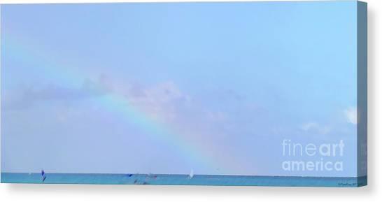 Canvas Print - Rainbow At The Beach 2 by Francesca Mackenney