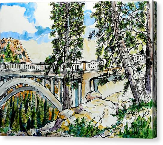 Rainbow Bridge At Donner Summit Canvas Print