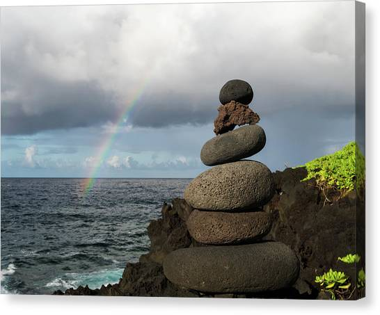 Canvas Print featuring the photograph Rainbow Cairn by William Dickman