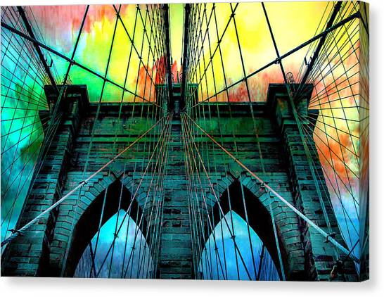 Symmetrical Canvas Print - Rainbow Ceiling  by Az Jackson