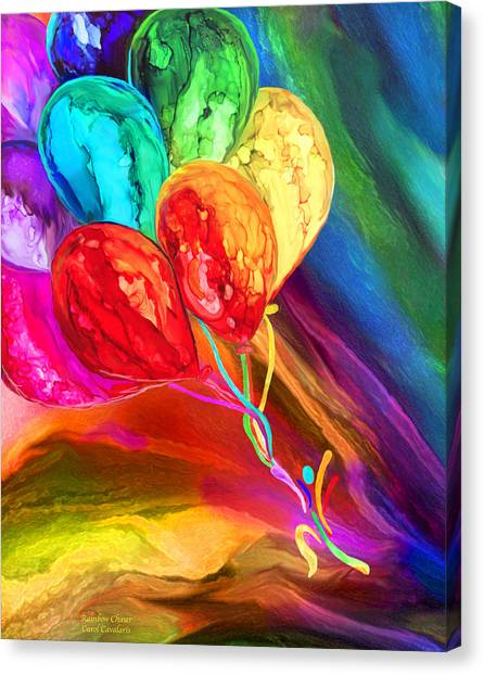 Canvas Print featuring the mixed media Rainbow Chaser by Carol Cavalaris