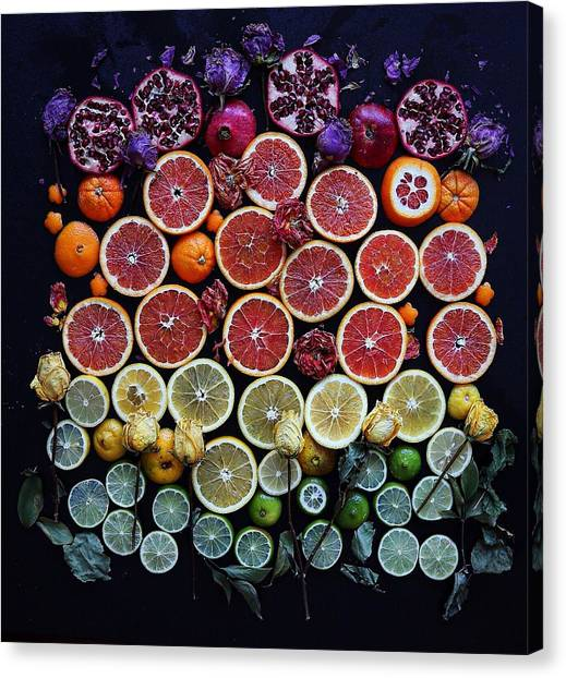 Rainbow Citrus Etc Canvas Print