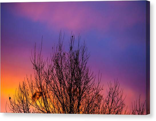 City Sunrises Canvas Print - Rainbow Clouds by Az Jackson