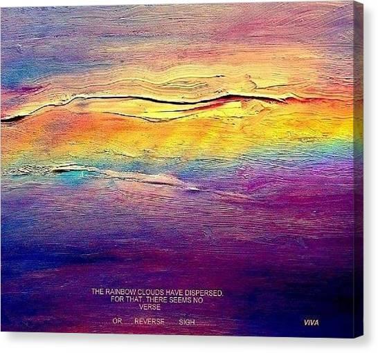 Rainbow Clouds - Blown Away Now - A Lament Canvas Print