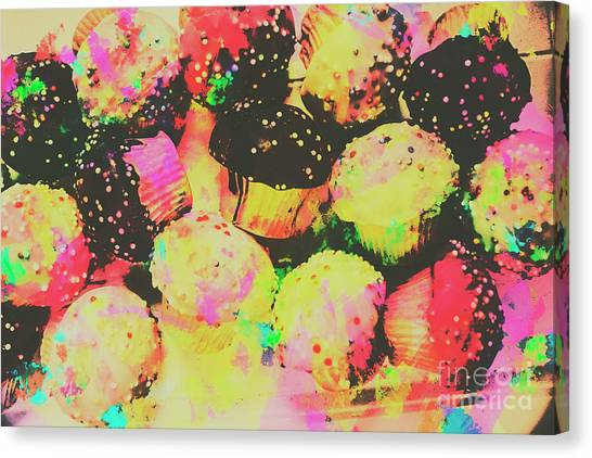 Cakes Canvas Print - Rainbow Color Cupcakes by Jorgo Photography - Wall Art Gallery