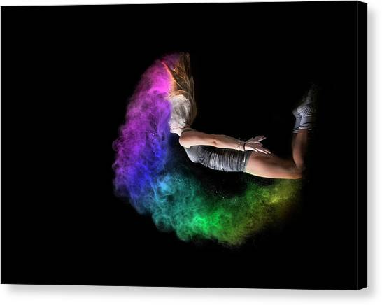 Rainbow Crescent Canvas Print