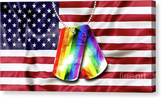 Rainbow Dog Tags Canvas Print