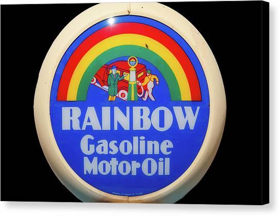 Rainbow Gasoline Canvas Print