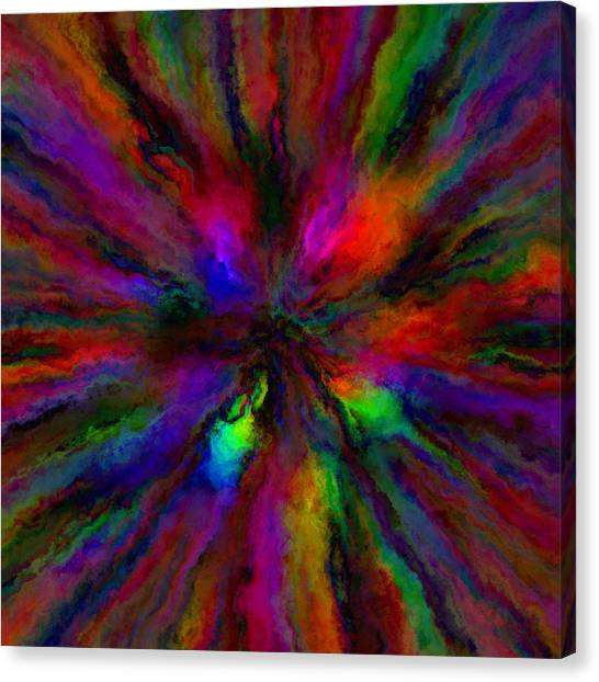 Rainbow Grunge Abstract Canvas Print