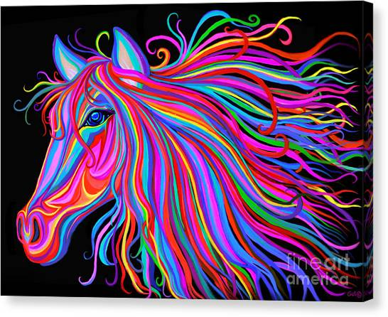 Canvas Print - Rainbow Horse  by Nick Gustafson