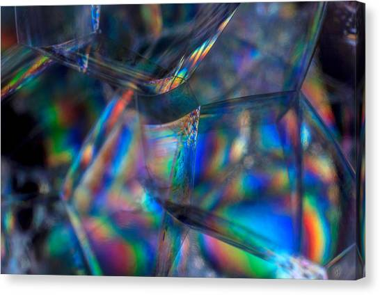 Canvas Print featuring the photograph Rainbow In A Bubble by Yogendra Joshi