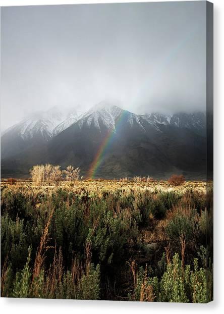 Rainbow In Eastern Sierra Nevadas Canvas Print