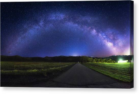 Rainbow In The Night Canvas Print