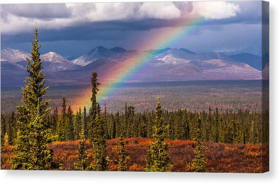 Rainbow Canvas Print by Joanie Havenner