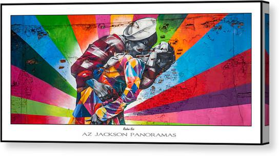 Kiss Canvas Print - Rainbow Kiss Poster Print by Az Jackson