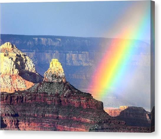 Rainbow Kisses The Grand Canyon Canvas Print