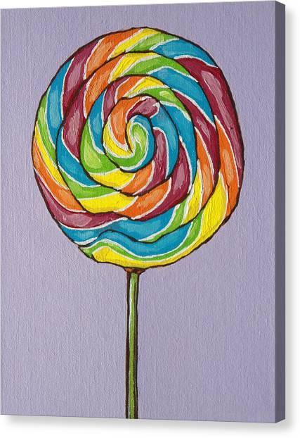 Rainbow Lollipop Canvas Print