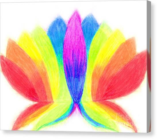 Rainbow Lotus Canvas Print by Chandelle Hazen