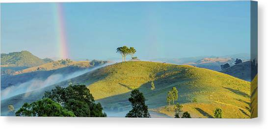 Wine Country Canvas Print - Rainbow Mountain by Az Jackson