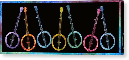 Rainbow Of Banjos Canvas Print