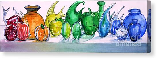 Rainbow Of Glass Canvas Print