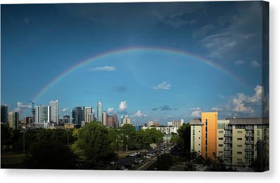 Rainbow Over Austin Canvas Print