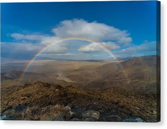 Rainbow Over Borrego Springs Canvas Print