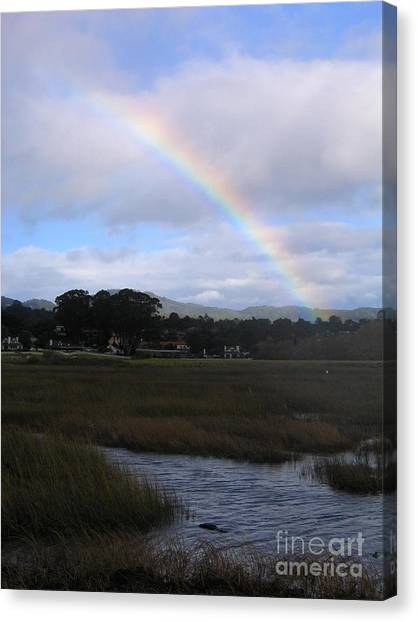 Rainbow Over Carmel Wetlands Canvas Print