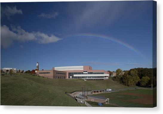 Horizon League Canvas Print - Rainbow Over Oakland University by Catherine DeDecker