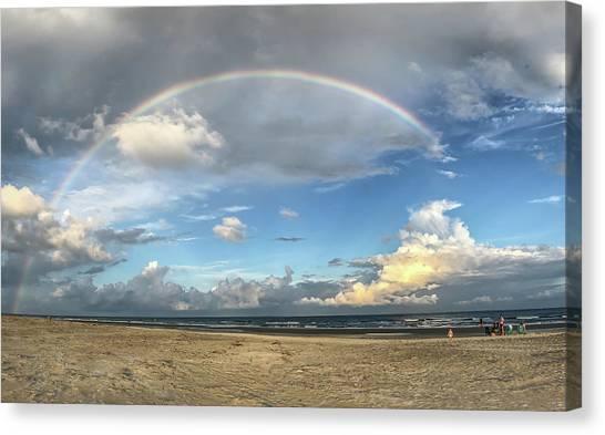Rainbow Over Ocean Canvas Print