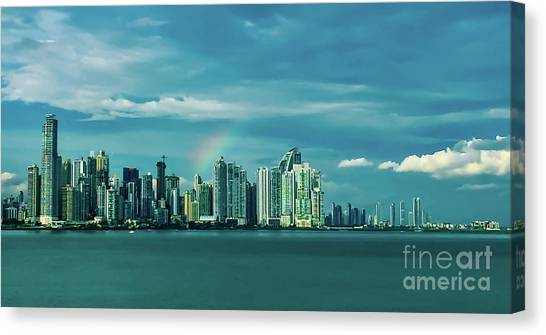 Rainbow Over Panama City Canvas Print