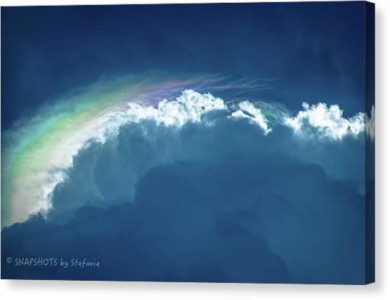 Rainbow Peeking Canvas Print