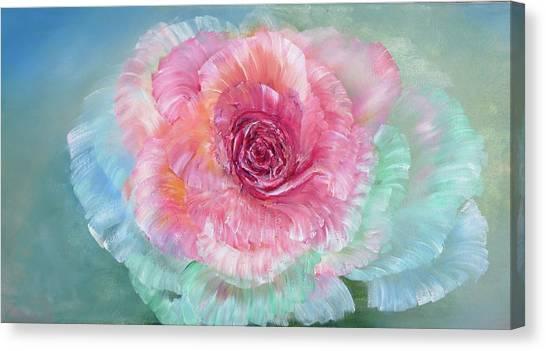 Rainbow Rose Canvas Print by Ann Marie Bone