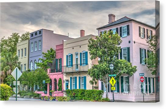 Rainbow Row II Canvas Print