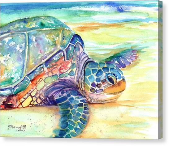 Rainbow Sea Turtle 2 Canvas Print