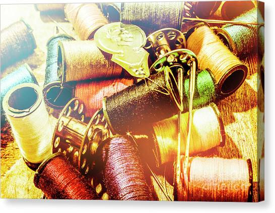Supplies Canvas Print - Rainbow Sew by Jorgo Photography - Wall Art Gallery