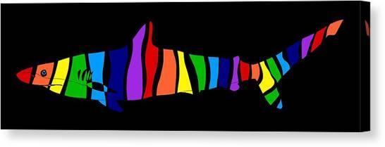 Rainbow Shark Canvas Print
