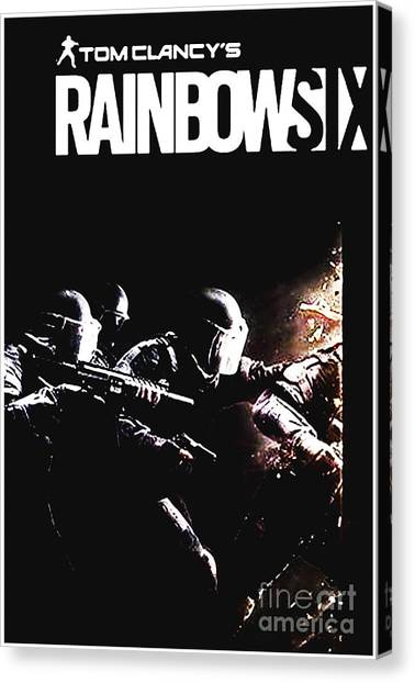 Rainbow Six Canvas Print - Rainbow Six  by Malika Sujono