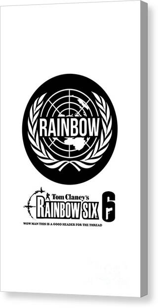 Rainbow Six Canvas Print - Rainbow Six by Ranita Okta