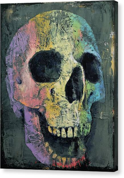 Skulls Canvas Print - Happy Skull by Michael Creese