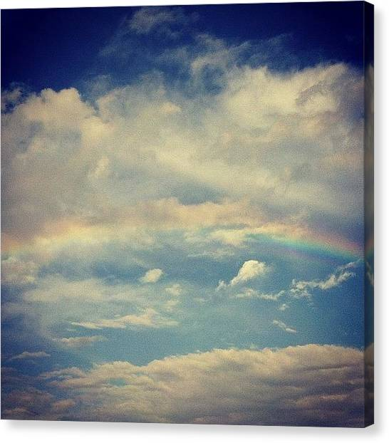 Rainbows Canvas Print - Rainbow In The Clouds by Joan McCool