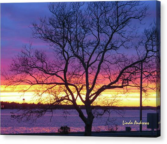 Canvas Print featuring the photograph Rainbow Sunset by Robert Henne